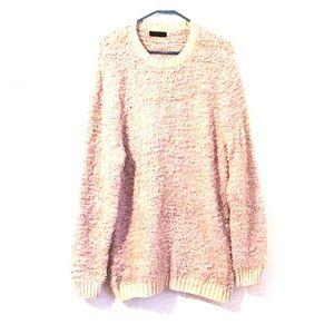 Oversized ASOS beige textured sweater